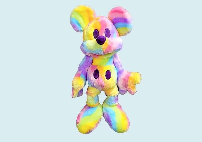 彩虹米奇毛绒玩具