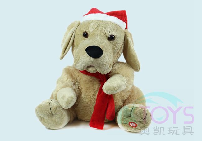 电动音乐圣诞狗