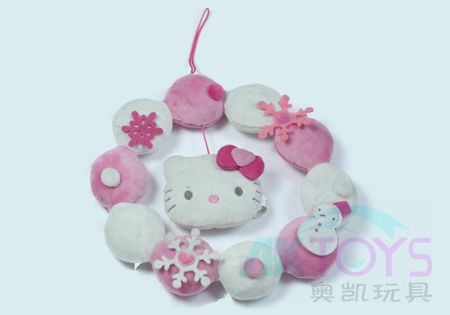 粉色kitty花环