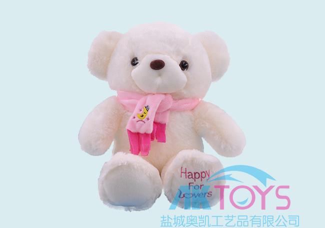 白色情人泰迪熊