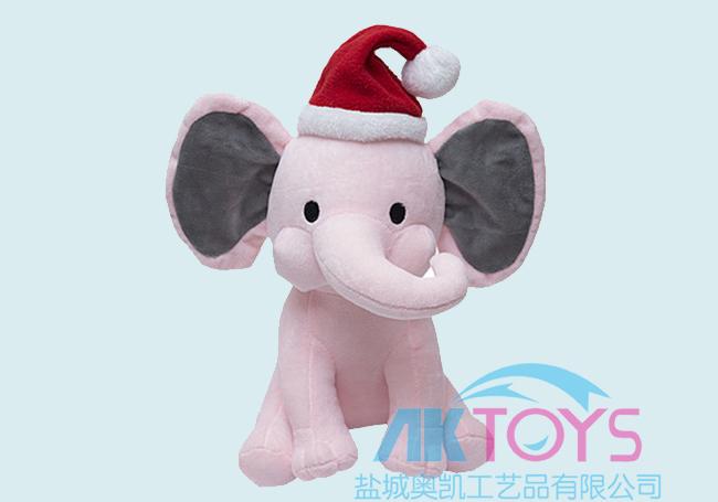粉色圣诞小象玩具
