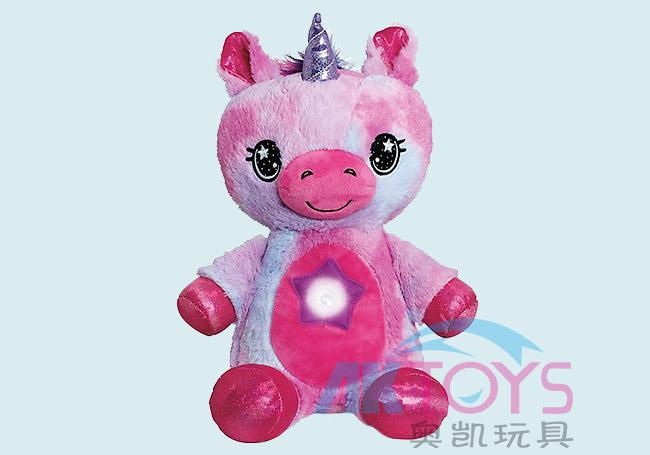 桃红独角兽玩具