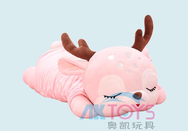 粉红趴姿小鹿玩具
