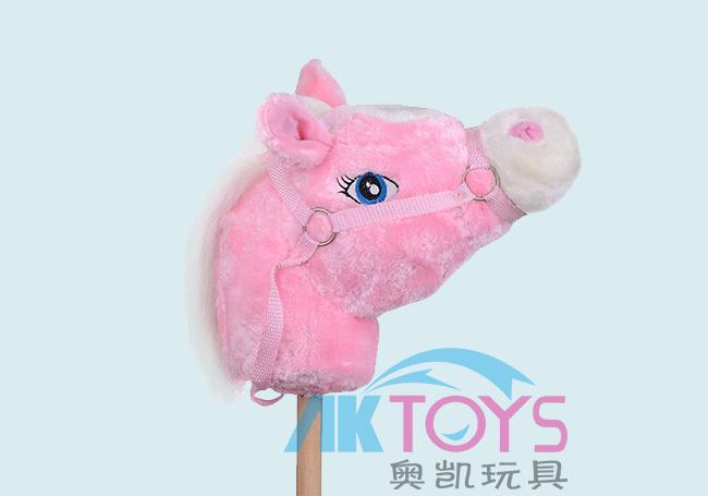 粉红唱歌竹马玩具