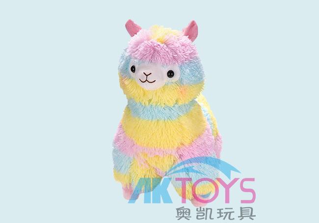 彩虹小羊驼玩具