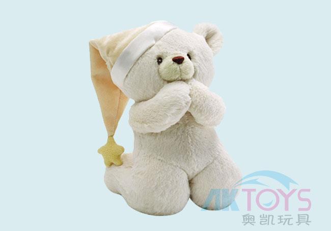 祈祷小白熊毛绒玩具