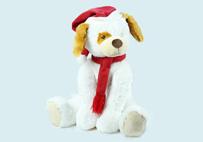 白色圣诞狗
