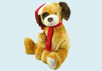 黄色圣诞狗