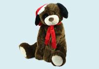 棕色圣诞狗
