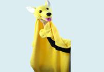 狗狗手偶毛毯