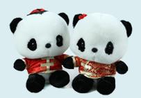 唐装熊猫公仔