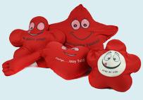 红色家居靠枕套装