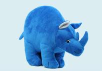 蓝色犀牛公仔