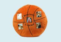 创意篮球照片抱枕