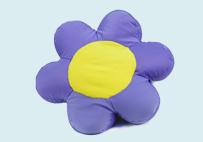 超舒服粒子花朵抱枕(紫色)
