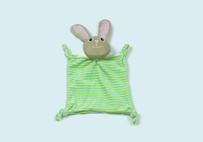 绿色兔子婴儿口水巾