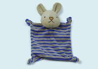 蓝色兔子婴儿口水巾