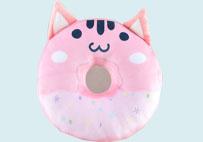 甜甜圈抱枕(粉色)