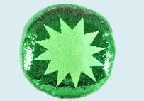 水果亮片毛绒抱枕(绿色)
