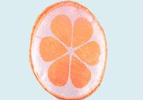 水果亮片毛绒抱枕(桔色)
