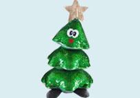 圣诞树亮片毛绒玩具