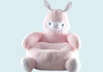 粉色羊驼儿童沙发垫