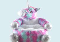 花色独角兽儿童沙发垫