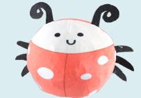 瓢虫慢回弹球球毛绒玩具