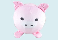 小粉猪慢回弹球球毛绒玩具