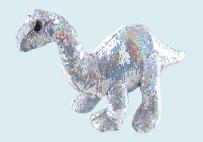 亮片毛绒恐龙玩具