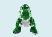 亮片毛绒恐龙玩具(绿色)