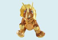 亮片毛绒犀牛玩具(黄色)