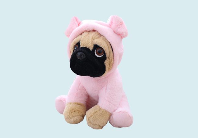 粉红套装斗牛犬