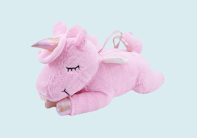 粉红趴姿独角兽玩具