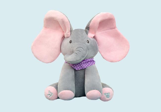 坐姿小象毛绒玩具