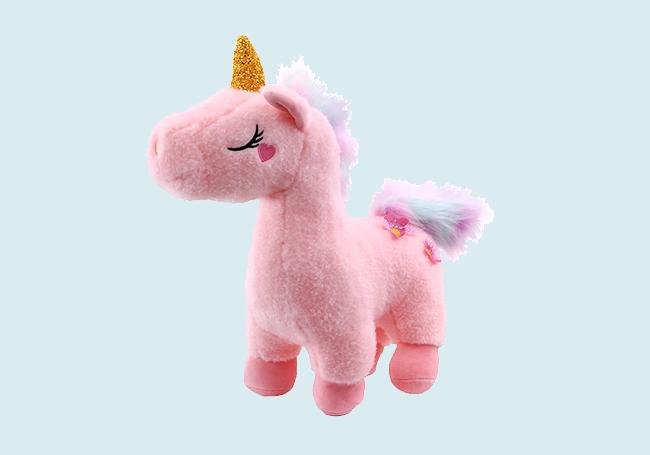 粉色金角独角兽玩具