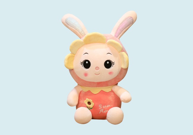 向日葵小兔玩具