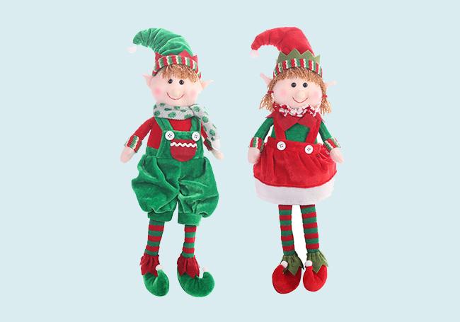 圣诞小精灵毛绒玩具