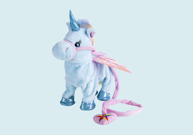 电动粉蓝独角兽玩具