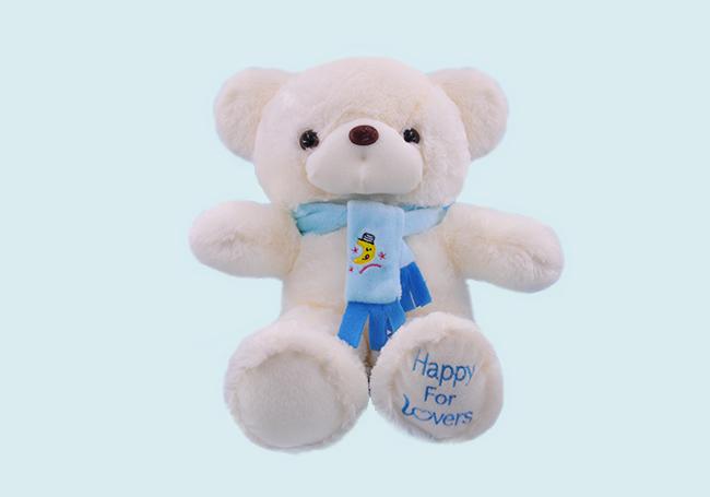 蓝色围巾小白熊玩具