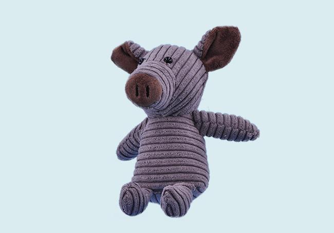 紫灰色萌萌小猪玩具