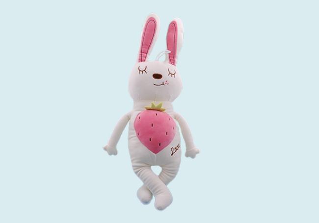 草莓午睡小兔玩具