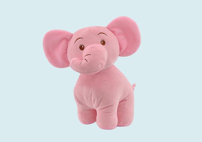 粉红站姿小象玩具