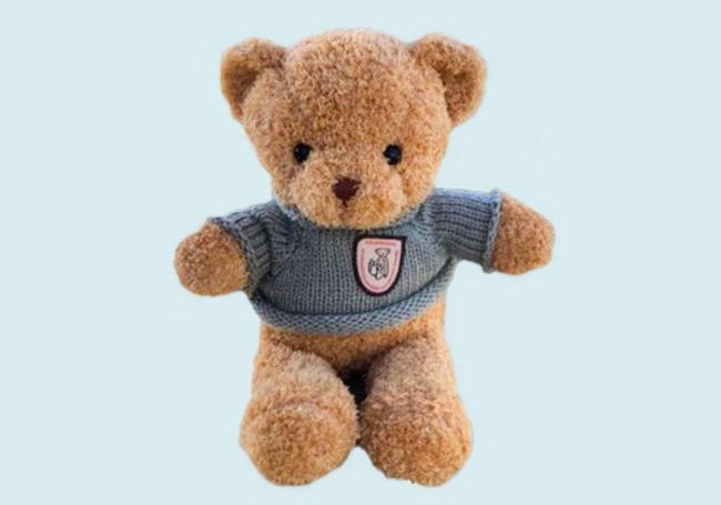 蓝色毛衣泰迪熊玩具