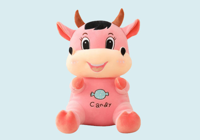粉红微笑糖果小牛玩具