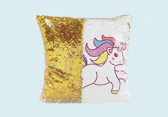 金色白色独角兽抱枕