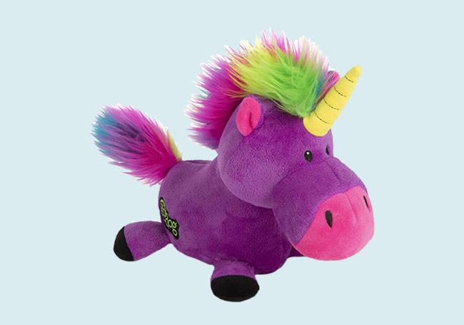 紫身黄角独角兽玩具