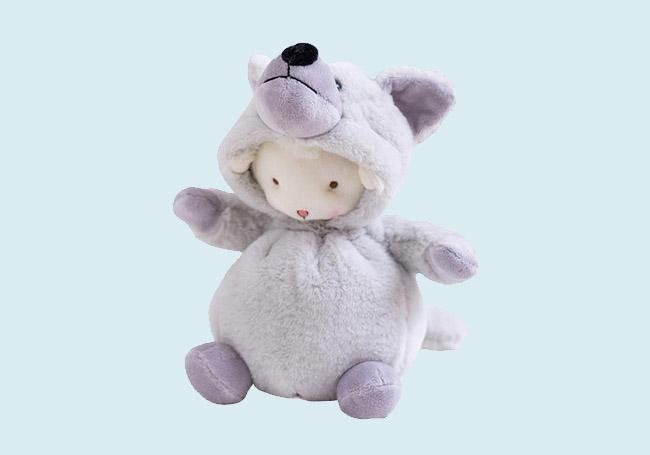 大灰狼小羊毛绒玩具