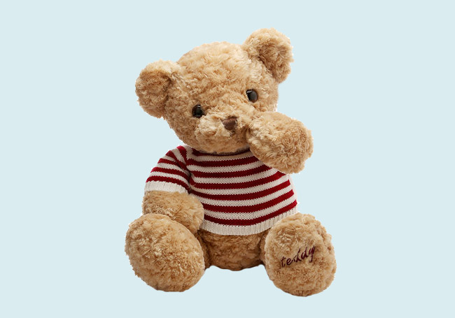条纹毛衣小泰迪玩具