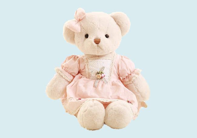 粉色裙子泰迪熊玩具